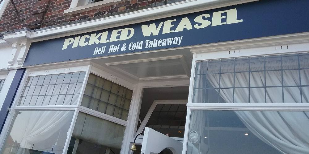 Visit Milford on Sea front of Pickled Weasel