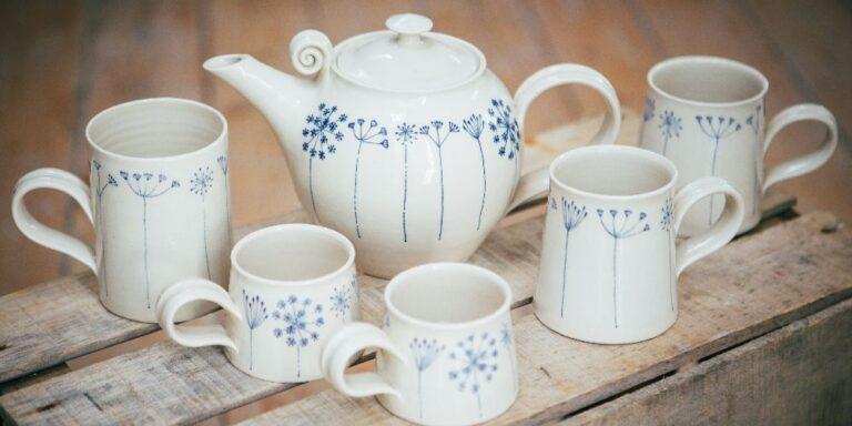 Visit Milford on Sea Vinegar Hill pottery set