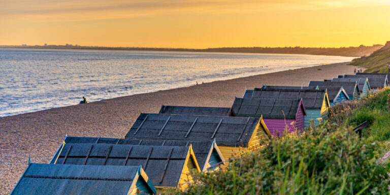 Visit Milford on Sea beach huts at Hordle Cliff
