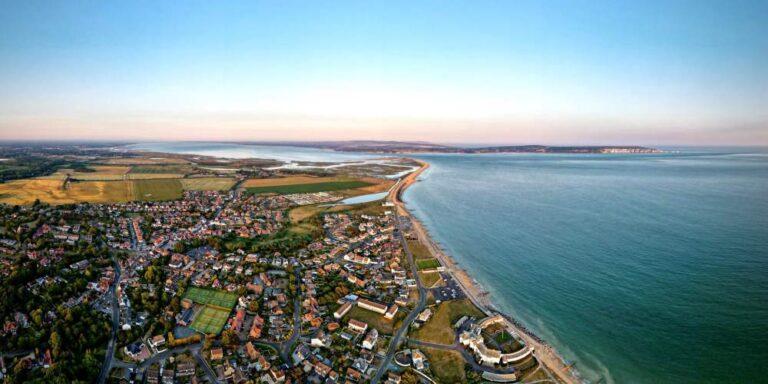 Visit Milford on Sea aerial view