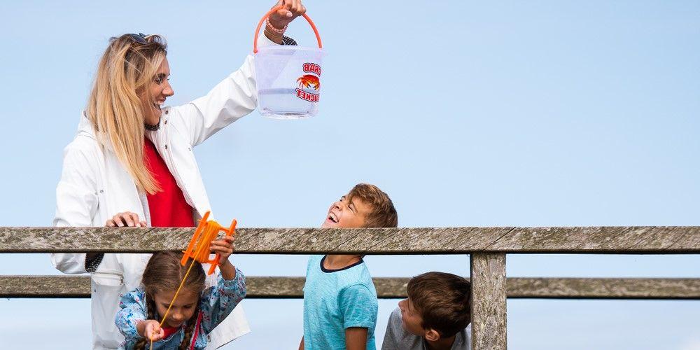 Visit Milford on Sea crabbing at Hurst Spit