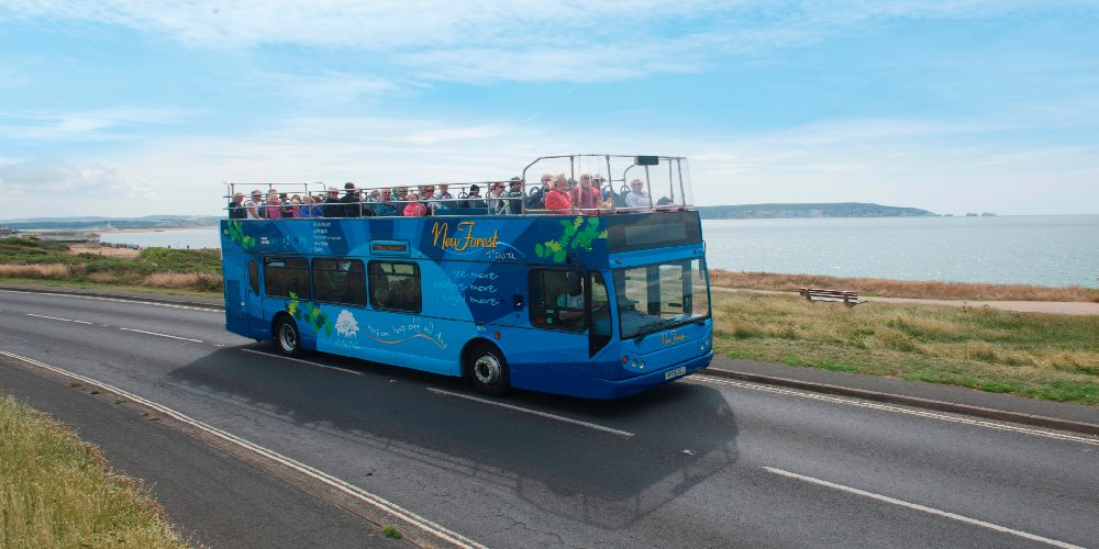 Visit Milford on Sea New Forest Tour blue route Milford on Sea